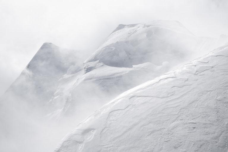 Piz Palu - st moritz suisse-image montagne noir et blanc