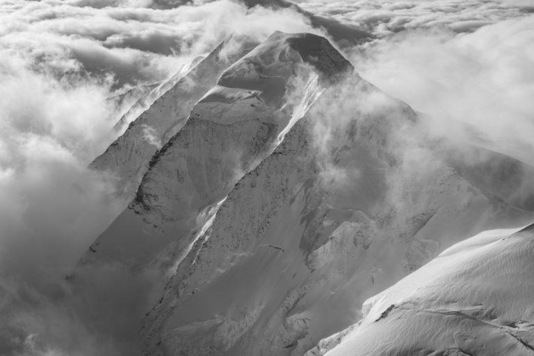 Pontresina photo noir et blanc - Images Alpes vue du ciel