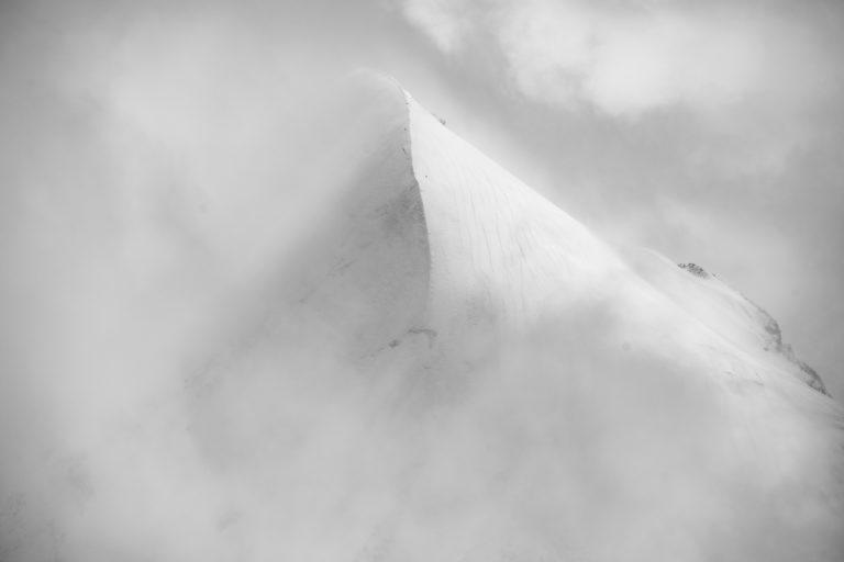 image montagne Davos - Vol hélicoptère Alpes - photo aérienne en hélico de Piz Roseg - vallée de l'Engadine