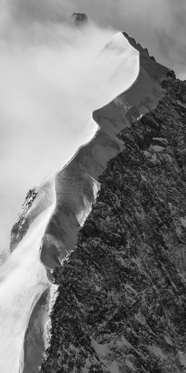 Photo Engadine St Moritz - image noir et blanc Alpes Suisses