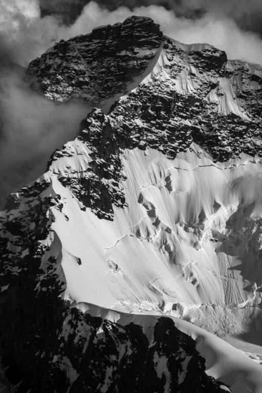 Photo montagne Valais suisse- roccia nera (Breithorn)