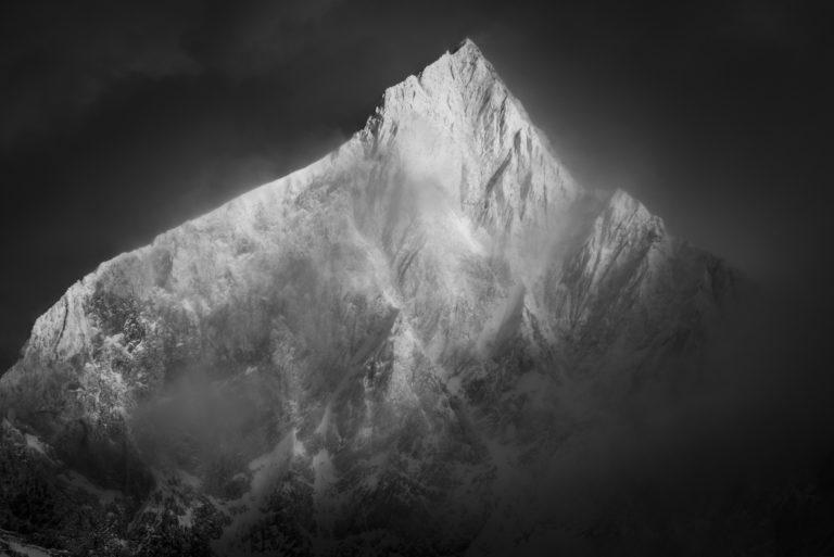 Photo montagne enneigée Vallée Zermatt - photo de paysage de montagne