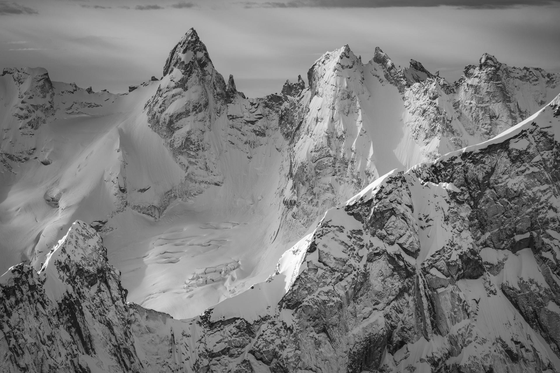 Photo noir et blanc Toronne dans la vallée de L'engadine