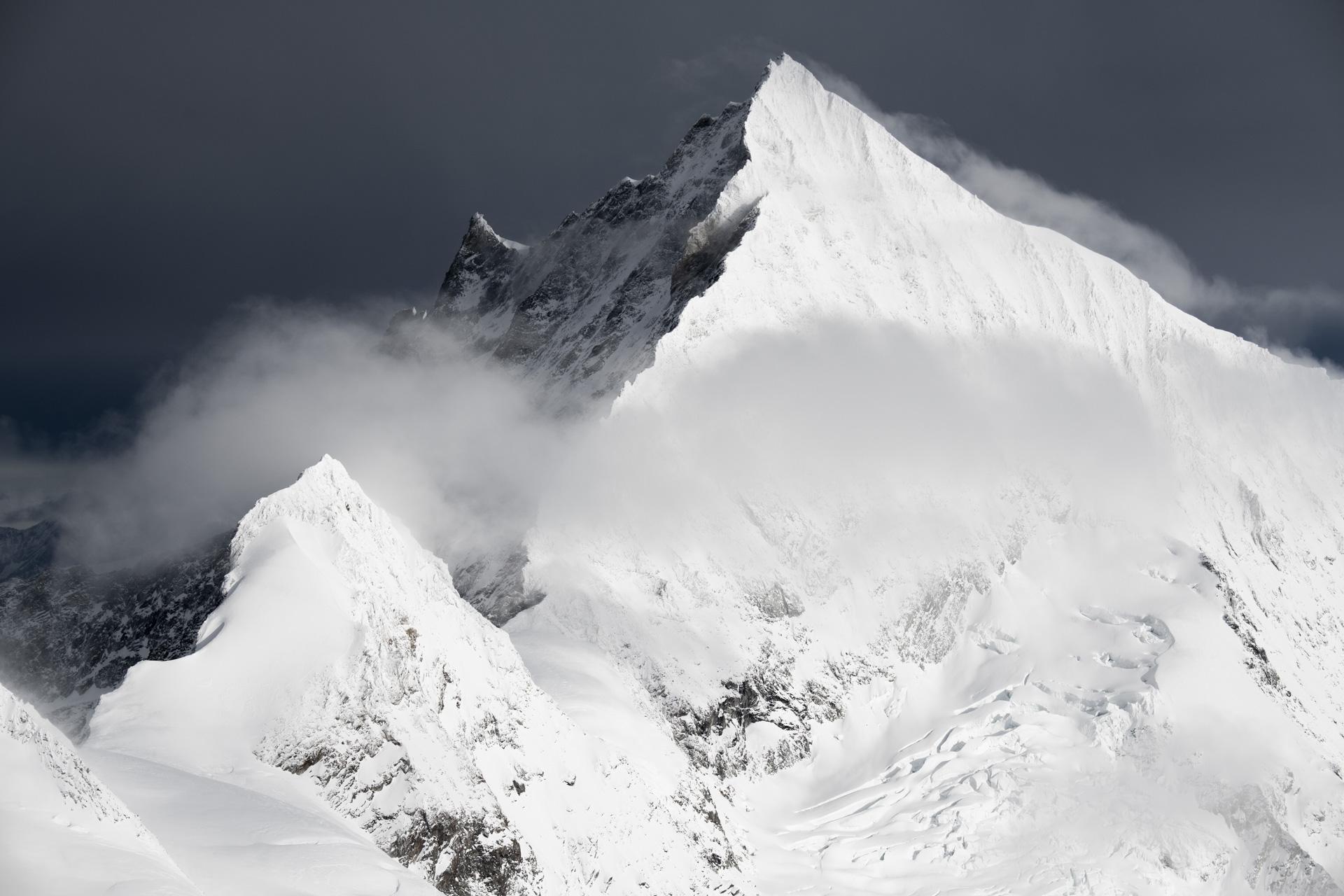 Weisshorn - Schaligrat - Schalihorn - massif montagneux photos montagnes enneigees en Suisses