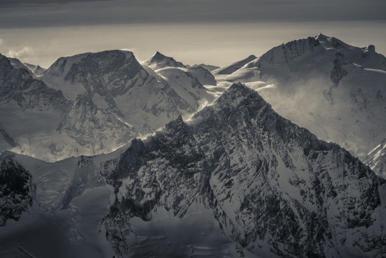 Photo montagne du Val d'Anniviers - Weisshorn - Alphubel - Strahlhorn