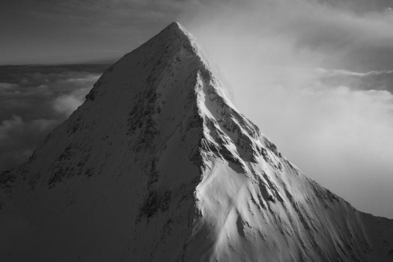 Eiger face nord - Image montagne noir et blanc de la Face nord de l'eiger
