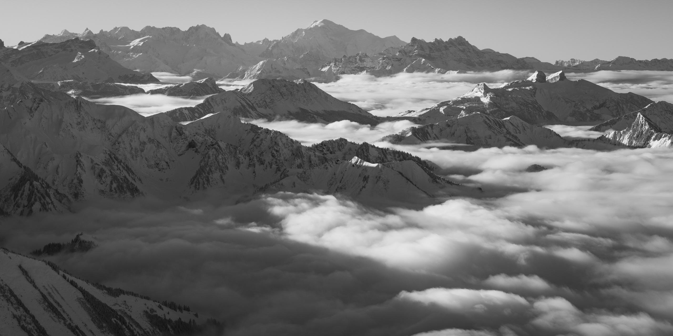 Photo panorama sur les alpes vaudoises. Photo vue sur Leysin. Photo Villars, les Dents du Midi.