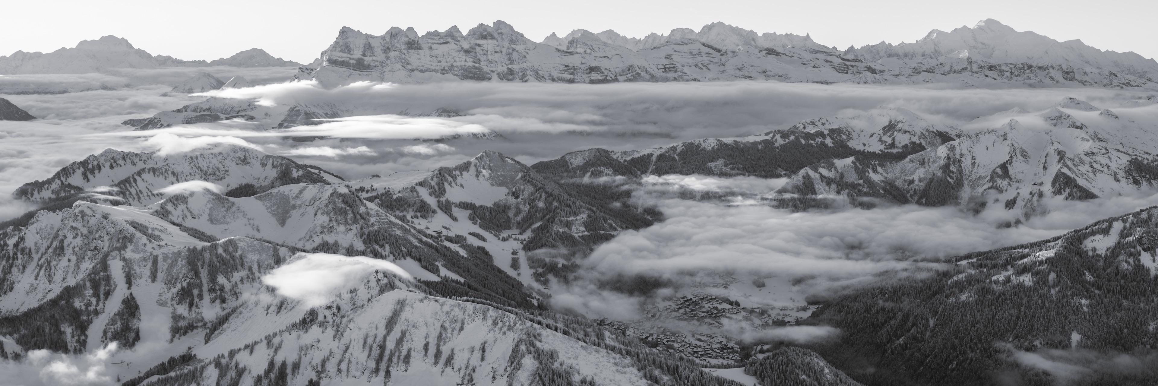 Panorama des Portes du Soleil - Photo grand format des dents du Midi et du Grand Combin