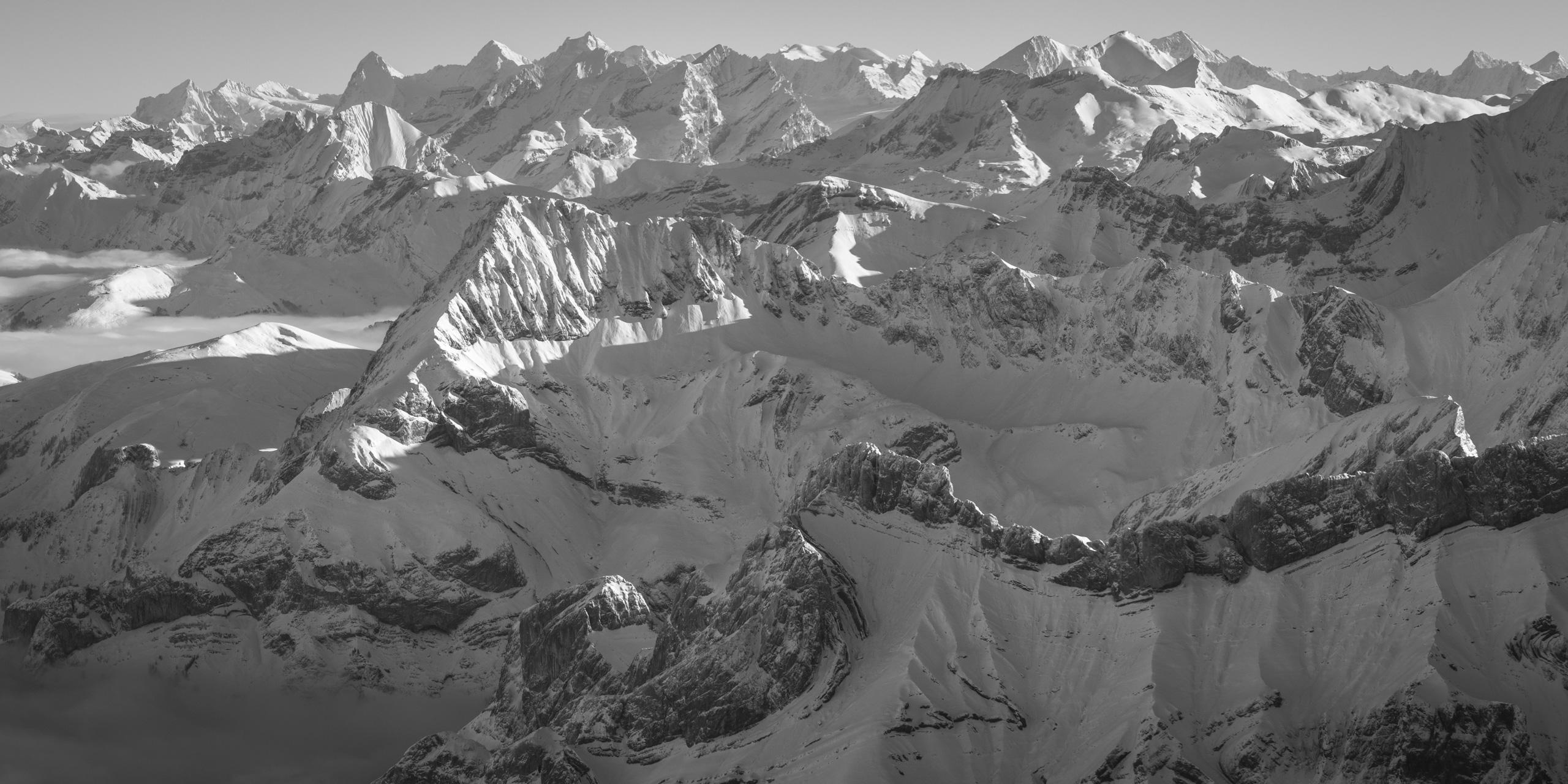 Panorama des alpes bernoises - Photo des alpes bernoises depuis les Diablerets - Photo Eiger, Monch et Jungfrau