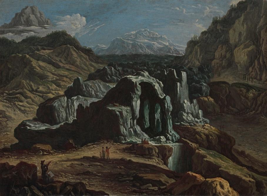 Félix Meyer, Le glacier inférieur de Grindelwald et le Mettenberg, vers 1700, huile sur toile, 56 x 76 cm, Winterthour, musée Oskar Reinhart.