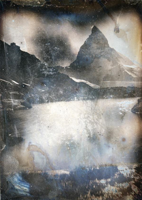 John Ruskin (John Hobbs), Cervin depuis le Riffelsee, 8 août 1849, daguerréotype, 10,2 x 7,6 cm, collection Ken et Jenny Jacobson