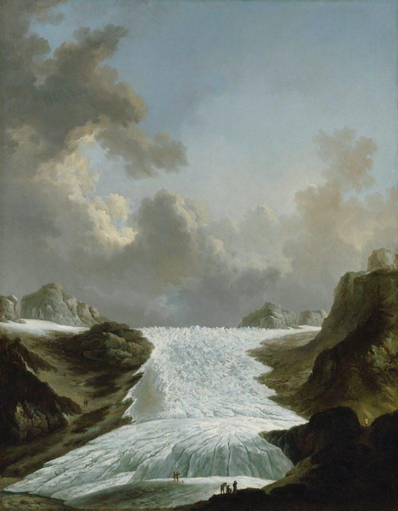 Johann Heinrich Wüest, Glacier du Rhône, vers 1775, huile, 126 x 100 cm, Kunsthaus de Zurich.