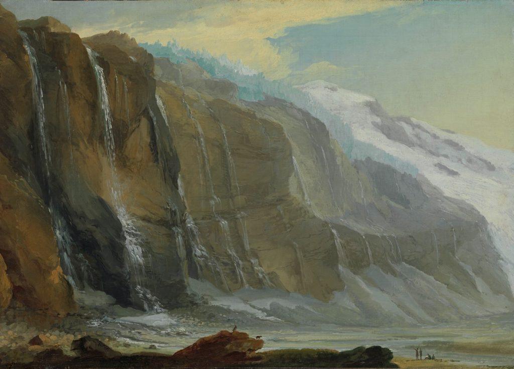 Caspar Wolf, Les chutes d'eau du Gelten au printemps, entre 1774 et 1777, 53,5 x 75,5 cm, Winterthur, Museum Oskar Reinhart am Stadtgarten.