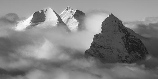 cadre photo montagne noir et blanc - achat photo montagne noir et blanc - tableau montagnes suisses