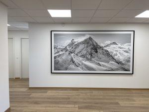 photo montagne grand format - cadre photo montagne noir et blanc