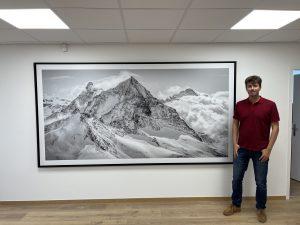 décoration bureau genève- Tableau panoramique montagne enneigé
